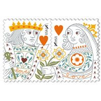 King queen heart stamp