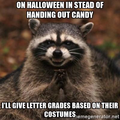 Halloween grades