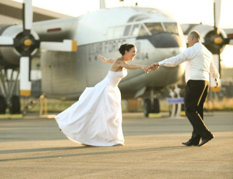 Wedding California Aerospace Museum