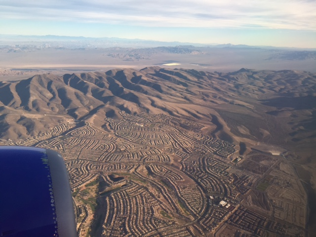 The outskirts of Las Vegas over which we circled to land. At this point, my craving to fly felt overwhelming as I realized this was the first time I've left the ground in months!