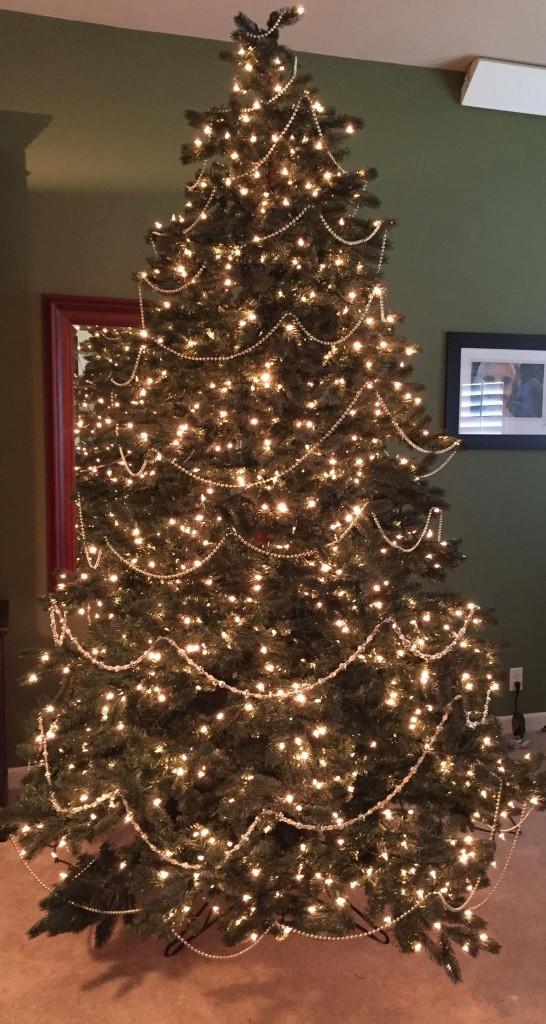 Christmas tree with garland