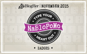 NaBloPoMo November 2015 Badge