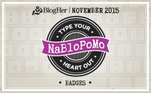 NaBloPoMo November 2015 Badge