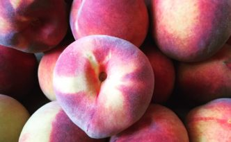 Marysville fruitstand peaches