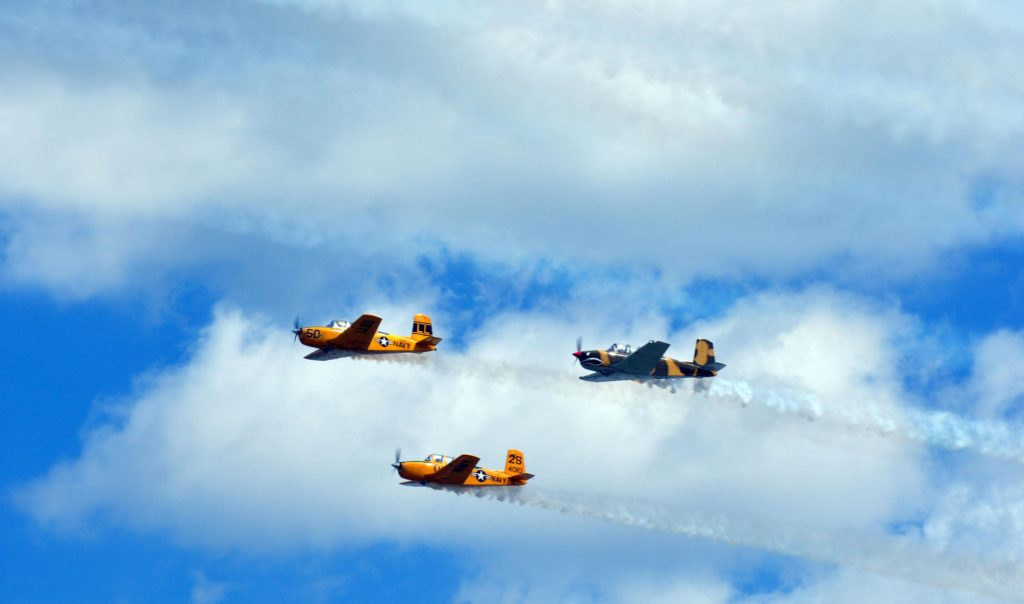 T-6s in formation