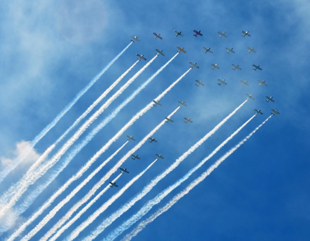 34-ship formation at EAA AirVenture Oshkosh