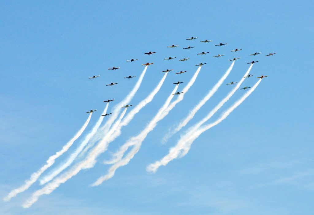 34-ship formation at AirVenture Oshkosh