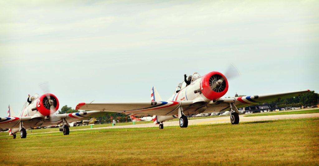 Geico Skytypers in SNJ-2s