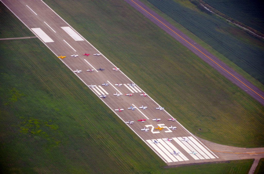 32 RVs on the runway