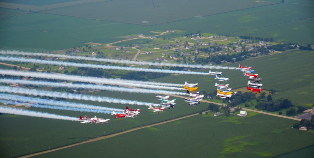 RVs in formation