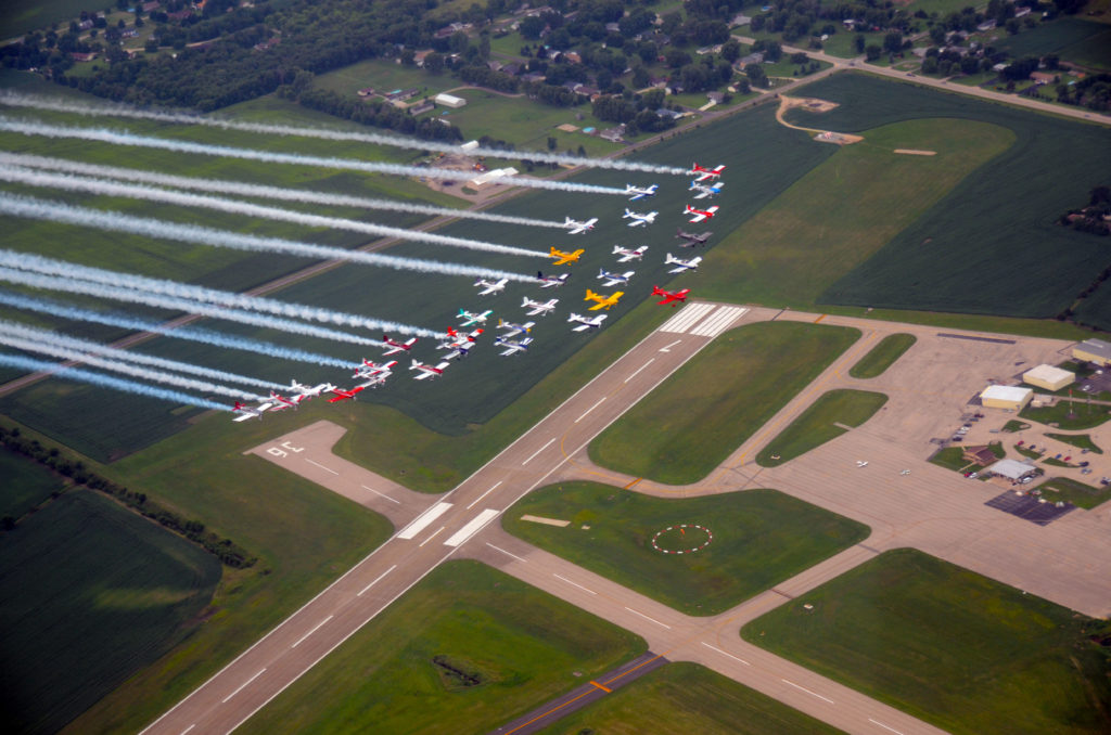 32 planes in formation over Whiteside County airport