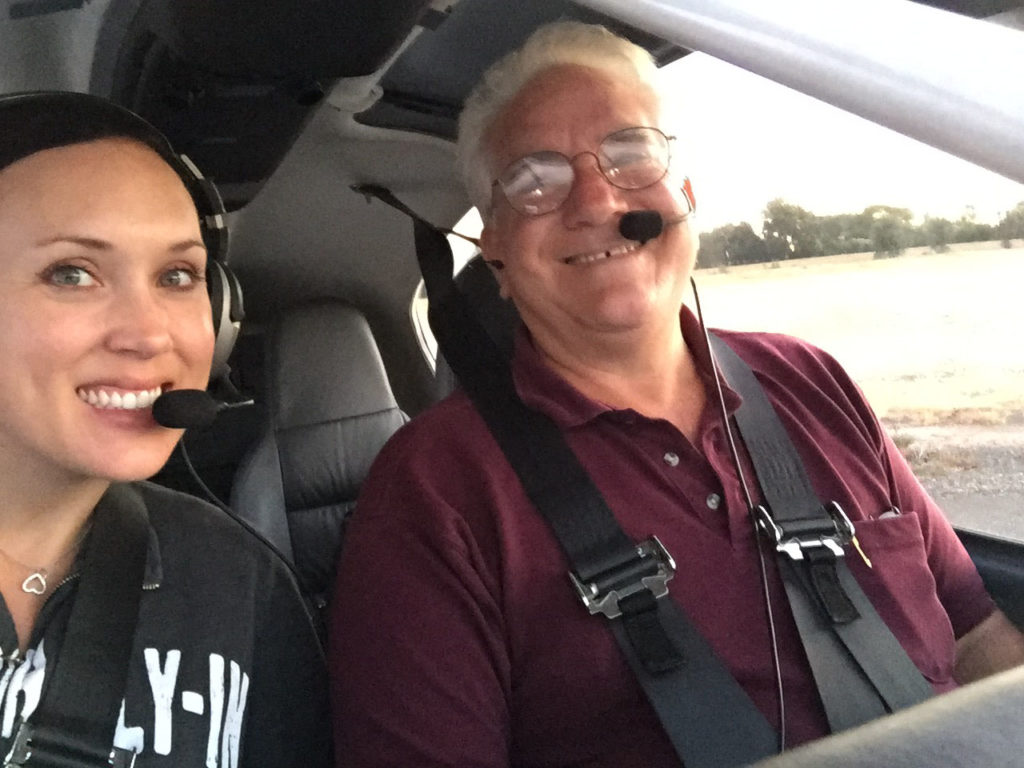Shawna and Nick in the RV-10