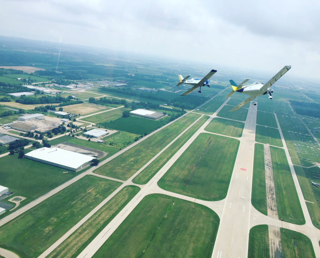 Formation over Oshkosh