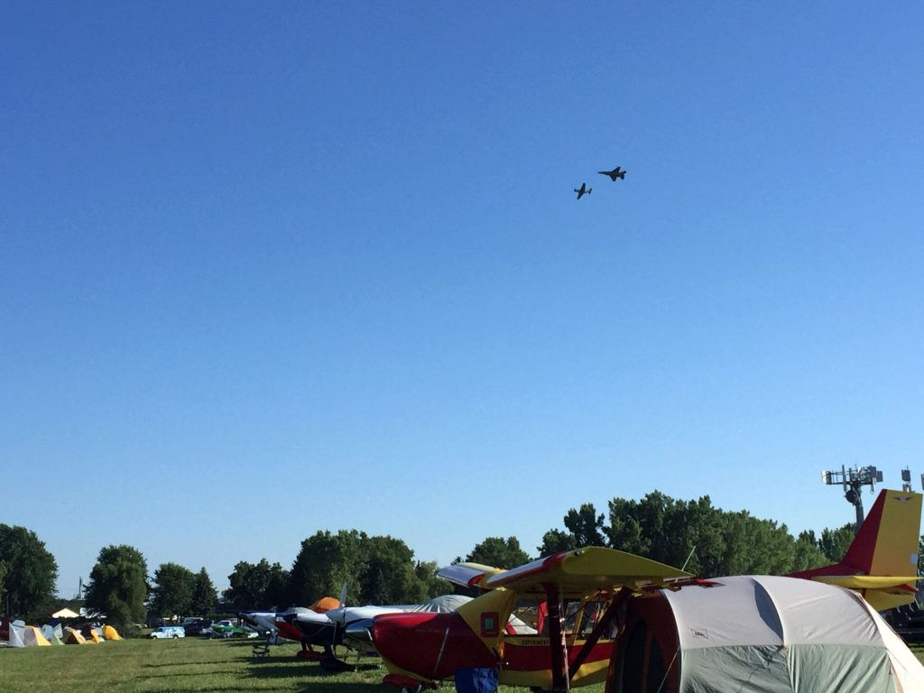 One of the best parts about Oshkosh--cool airplanes overhead almost at all times.