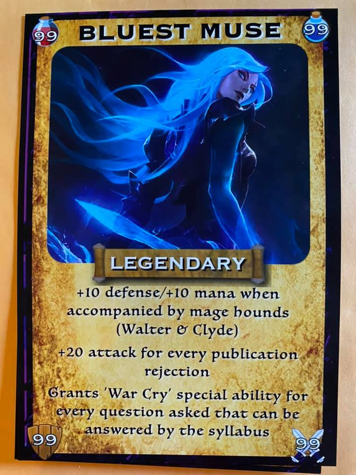 Bluest Muse warrior mage character card